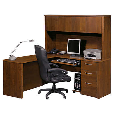 Picture of Waterford L-Shaped Desk with Hutch