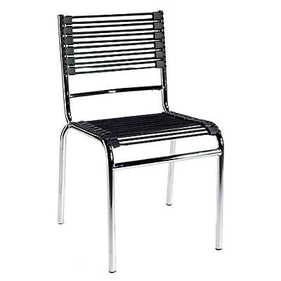 Picture of Bungie Stacking Chair with Chrome Legs, Set of 4