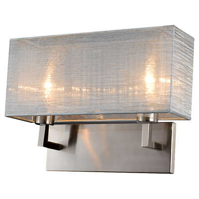 Picture of Prescott Double Silk Silver Wall Sconce