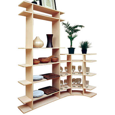Picture of 6' Tall Dining Room Contour Shelf