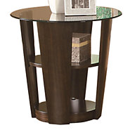 Picture of Tiered End Table with Glass Top