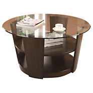 Picture of Tiered Coffee Table with Glass Top