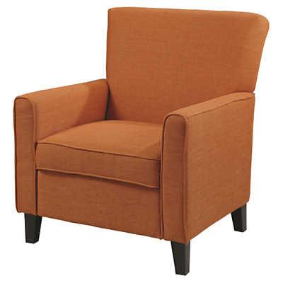 Picture of Alvah Accent Chair in Rust Orange