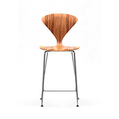 Picture of Cherner Stool with Chrome Metal Base with Arms