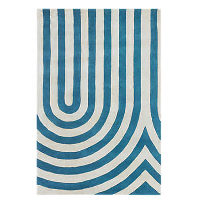 Picture of Thomas Paul Oval Rug, Blue