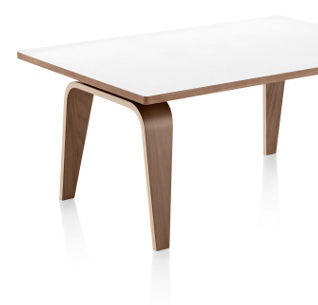 Eames Molded Plywood Table with Metal Base