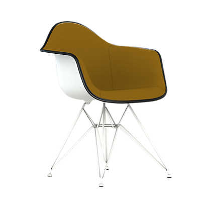 Picture of Eames Upholstered Molded Plastic Armchair with Wire Base