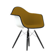 Picture of Eames Upholstered Molded Plastic Armchair with Dowel Leg Base