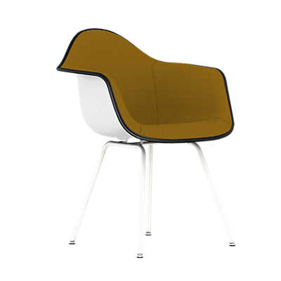 Picture of Eames Upholstered Molded Plastic Armchair with 4-Leg Base