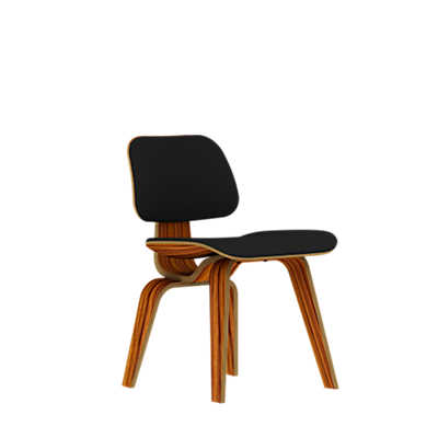Picture of Herman Miller Eames Plywood Dining Chair, Wood Legs, Upholstered