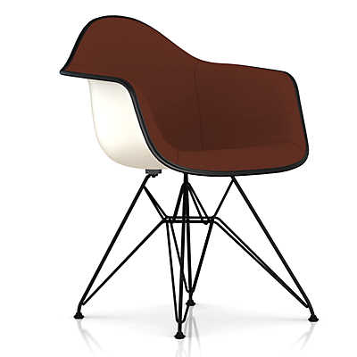 Picture of Eames Upholstered Molded Fiberglass Armchair with Wire Base