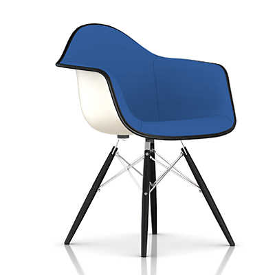Picture of Eames Upholstered Molded Fiberglass Armchair with Dowel Leg Base