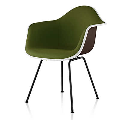 Picture of Eames Upholstered Molded Fiberglass Armchair with 4-Leg Base