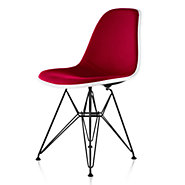 Picture of Eames Upholstered Molded Fiberglass Side Chair with Wire Base