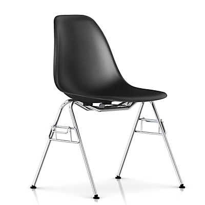 Picture of Eames Molded Fiberglass Side Chair, Stacking Base