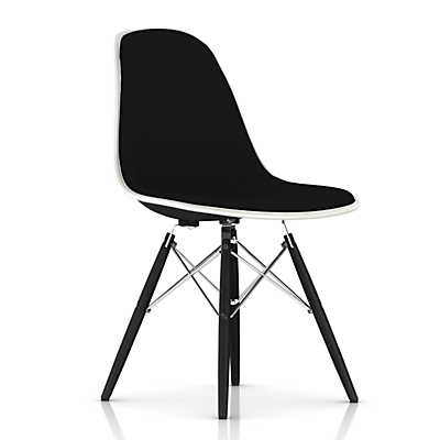 Picture of Eames Upholstered Molded Fiberglass Side Chair with Dowel Leg Base