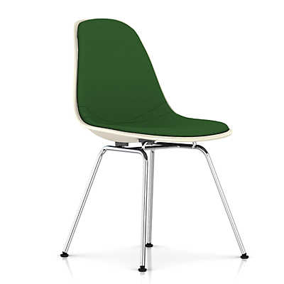 Picture of Eames Upholstered Molded Fiberglass Side Chair with 4-Leg Base