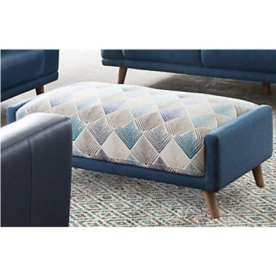 Magnetic Patterned Fabric Rectangular Ottoman