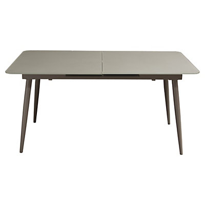 Taupe frosted glass extension dining table - Frosted glass dining tables ...