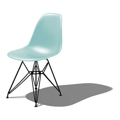 Picture of Eames Molded Plastic Side Chair with Eiffel Tower Base