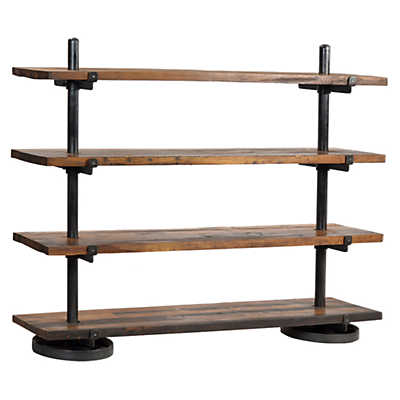 Picture of Industrial Steel Rack with Wood Shelf