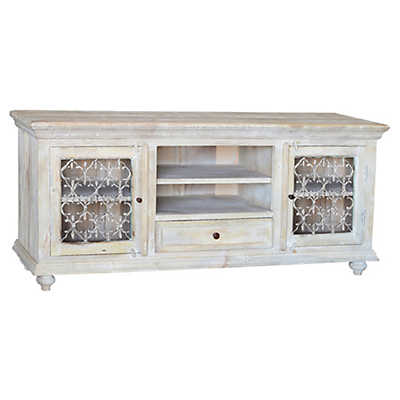 Picture of Santa Fe White TV Stand