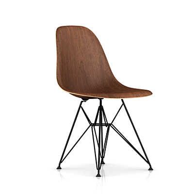 Picture of Eames Molded Wood Side Chair with Wire Base