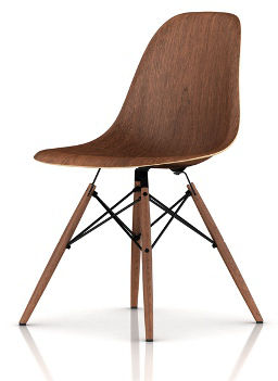 Eames Molded Wood Side Chair with Dowel Leg Base