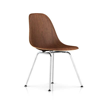 Picture of Eames Molded Wood Side Chair with 4-Leg Base