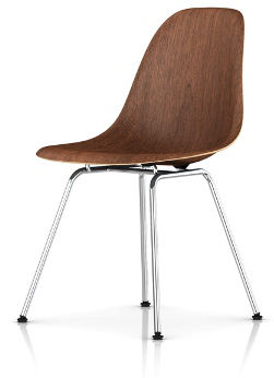 Eames Molded Wood Chair with 4-Leg Base