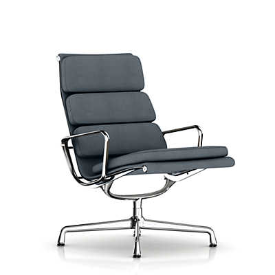 Picture of Eames Soft Pad Lounge Chair, Swivel Base, Fabric