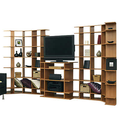 "Picture of 11' Wide Media System with 19"" Deep Console"