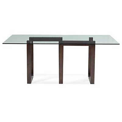 Picture of Serpent Rectangular Glass Top Dining Table