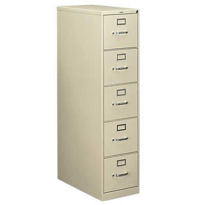 "Picture of Hon 310 5-Drawer Letter File, 60"" x 15"" x 26"""