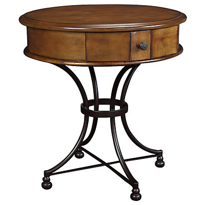 Round End Table With Storage Round Storage End Table