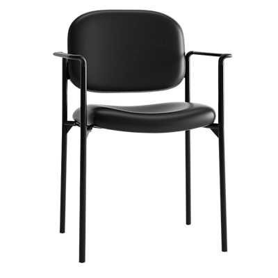 Picture of Basyx Guest Chair, 4-Leg Base with Arms