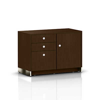 Picture of Sled Base Credenza, 1 Door with Box, Box, File Drawers