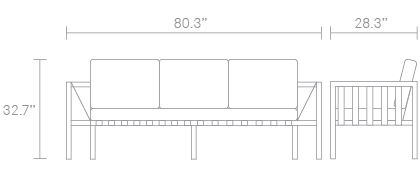 Jibe Outdoor Sofa Dimensions