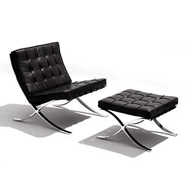 Knoll Barcelona Lounge Chair and Ottoman