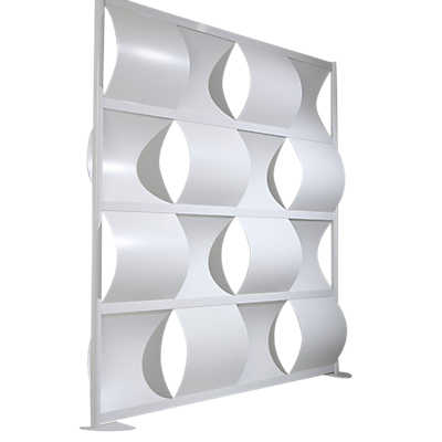 "Picture of LOFTwall Wave Partition LWW6, 76"" Wide"