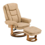Picture of Nubuck Recliner with Ottoman