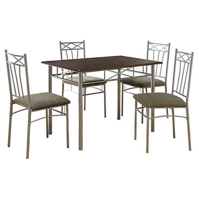 Picture of Cappuccino and Silver 5-Piece Dining Set