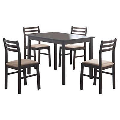 Picture of Cappuccino Veneer 5-Piece Dining Set