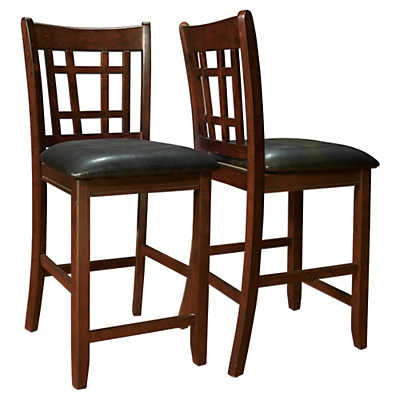 Picture of Cappuccino and Black Pub Chairs, Set of 2