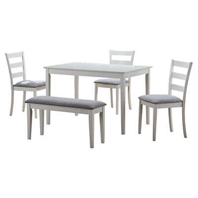 Picture of 5-Piece Dining Set with Bench and 3 Side Chairs