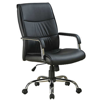 Picture of Black Leather-Look Office Chair