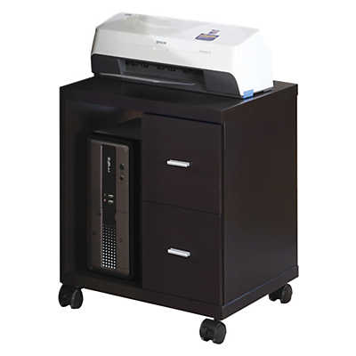 Picture of Cappuccino 2-Drawer Computer Stand