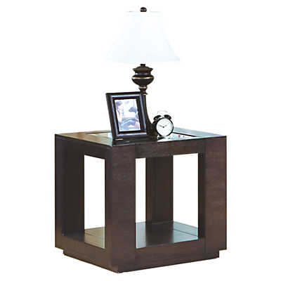 Picture of Cappuccino End Table with Glass Insert