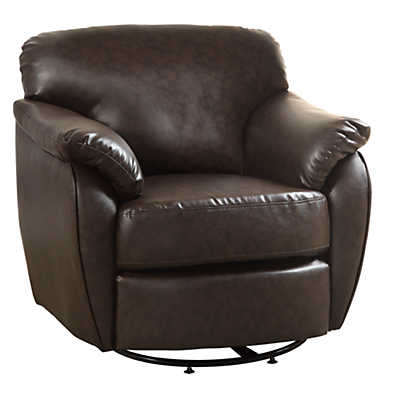 Picture of Leather-Look Swivel Accent Chair