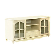 Picture of Gable Media Console in Antique White